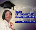 Tips To Introduce Yourself in MBA Application Essays